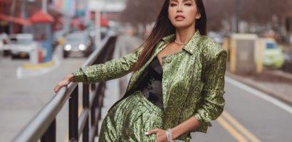 New York Fashion Week ngày đầu tiên: Minh Tú cá tính trong outfit màu neon nổi bật