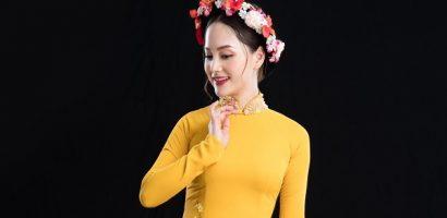 Diễn viên Lan Phương khoe dáng mảnh mai với tà áo dài