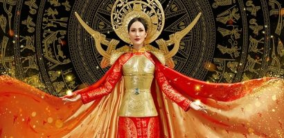 Hoài Sa 'nhá hàng' quốc phục dự thi tại Miss International Queen 2020