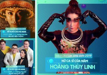 Hoàng Thùy Linh thắng lớn ở giải thưởng 'Làn sóng xanh 2019'