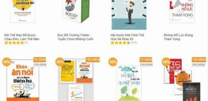 Doanh thu sách bán online tăng đột biến