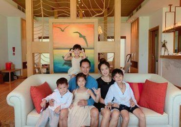 Gia đình Lý Hải đi nghỉ dưỡng sau mùa dịch Covid-19