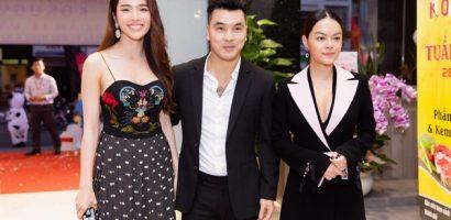 Phạm Quỳnh Anh sánh đôi cùng vợ chồng Ưng Hoàng Phúc tại sự kiện