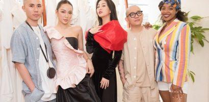 Nghệ sĩ Việt diện áo dài thương hiệu Song Toàn
