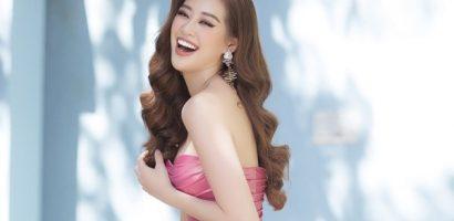 Diện váy cúp ngực, Khánh Vân nhận 'mưa lời khen'
