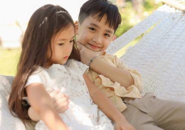Thu Trang đẹp dịu dàng, bật cười thích thú khi con trai thân thiết với con gái Đoan Trang
