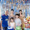 Xuân Lan cùng chồng đưa bé Thỏ mừng sinh nhật Sushi lên 8 tuổi