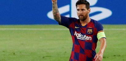 Messi bỏ xa Ronaldo khi giúp Barca vào tứ kết Champions League