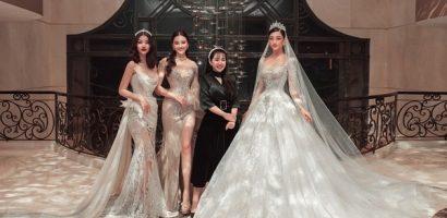 Chiếc váy Hoa hậu Lương Thùy Linh mặc đấu giá được 405 triệu ủng hộ miền Trung