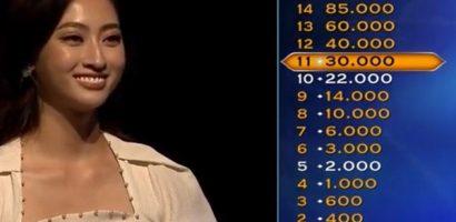 Hoa hậu Lương Thùy Linh chinh phục 11 câu hỏi 'Ai là triệu phú'