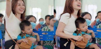 'Chị Hằng' Chi Pu tự tay trao 700 phần quà Trung thu đến người dân tại Phú Yên