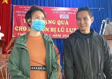 Lý Hải – Minh Hà muốn san sẻ đồng đều với bà con miền Trung