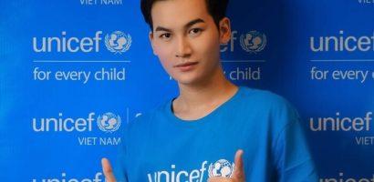 Ali Hoàng Dương tích cực tham gia hoạt động cộng đồng của UNICEF