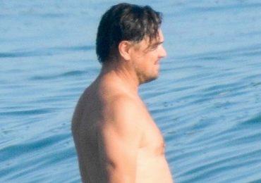 Leonardo DiCaprio để lộ thân hình kém săn chắc