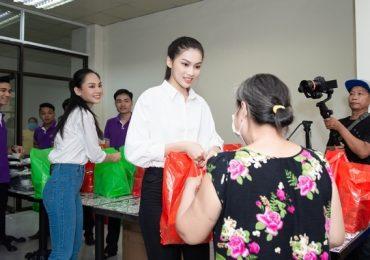 Hoa Hậu Đỗ Thị Hà giản dị trong chuyến đi từ thiện đầu tiên sau đăng quang