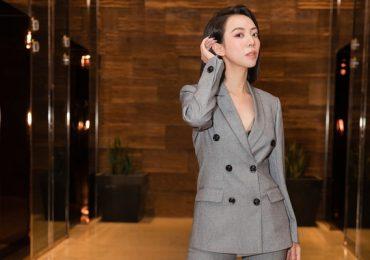 'Chị Mười Ba' Thu Trang diện vest cực ngầu tại sự kiện