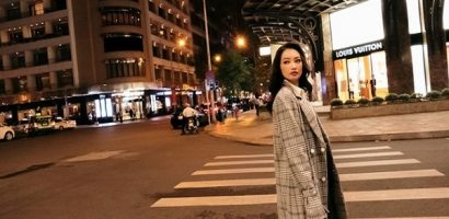 Trương Tri Trúc Diễm hoá quý cô thanh lịch trên đường phố Sài Gòn