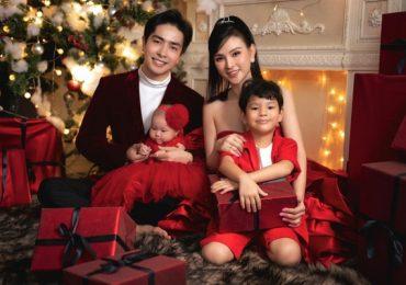 Thu Thủy khoe bộ ảnh gia đình hạnh phúc mùa Giáng sinh