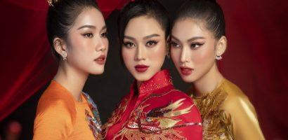 Top 3 Hoa hậu Việt Nam 2020 khoe sắc với tà áo phong cách retro