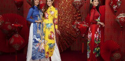 Các người đẹp Hoa hậu Hoàn vũ Việt Nam rạng ngời trong tà Áo dài