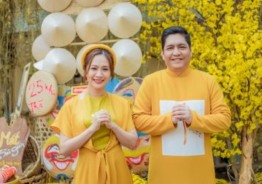 Vợ chồng Thanh Thúy – Đức Thịnh mong một năm mới bình an