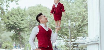 Mới 1 tuổi, con gái NSUT Quốc Cơ đã có thể làm xiếc thăng bằng