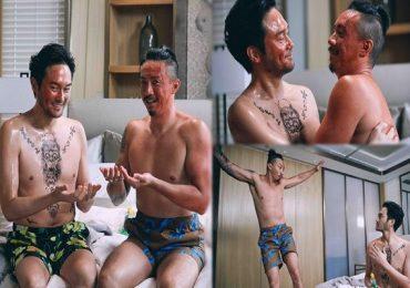 Cảnh thân mật giữa Trương Trí Lâm và Trương Kế Thông