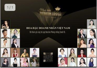 Thí sinh Hoa hậu Doanh nhân Việt Nam tích cực ủng hộ quỹ Vắc-xin Covid-19