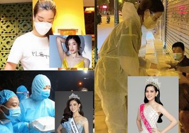 Đỗ Mỹ Linh, Lương Thuỳ Linh, Đỗ Hà tham gia đội ngũ tình nguyện viên phát cơm cho người dân khó khăn tại Hà Nội