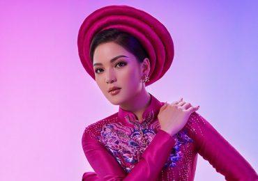 Vân Anh đưa áo dài Việt vào phần dự thi ở Miss Earth 2021