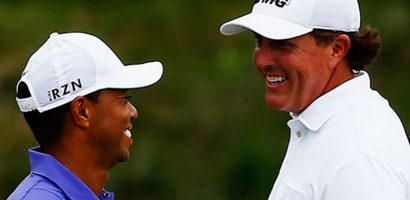 Woods và Mickelson đánh cặp tại vòng tập Masters