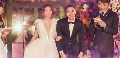 10 năm sau scandal, Chung Hân Đồng khóc khi trở thành cô dâu