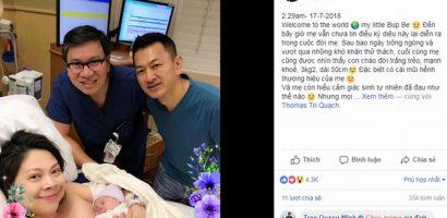 Ca sĩ Thanh Thảo sinh con gái đầu lòng ở tuổi 41