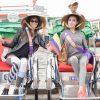 Thí sinh Hoa hậu đại sứ du lịch gây chú ý khi tham quan phố cổ Hội An bằng xích lô