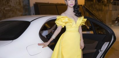 Miss Eco Tourism 2017 Liên Phương đẹp lộng lẫy, đi xe sang dự sự kiện