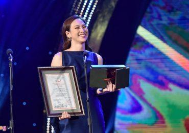 Phương Anh Đào giành giải 'Nữ diễn viên chính xuất sắc nhất' tại LHP Quốc tế Hà Nội 2018