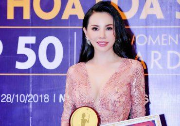 Hoa hậu Châu Ngọc Bích được vinh danh Top 50 nữ doanh nhân trong thời đại mới