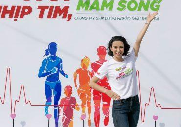 Ngọc Diễm, Phương Vy, Ngô Kiến Huy chạy bộ cùng hàng ngàn bạn trẻ