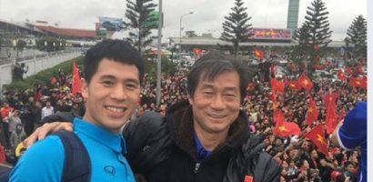 Đình Trọng, Tiến Dũng, Duy Mạnh tri ân trợ lý HLV Bae Ji-won