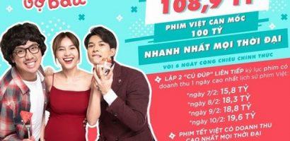 Phim 'Cua lại vợ bầu' thành phim Việt cán mốc 100 tỷ nhanh nhất