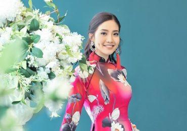 Hoa hậu Ninh Hoàng Ngân điệu đàng với áo dài làm từ tơ lụa đắt nhất thế giới
