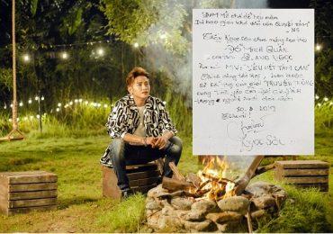Danh ca Ngọc Sơn viết thư tay chúc mừng học trò ra MV mới