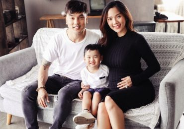 Ưng Hoàng Phúc – Kim Cương cười hạnh phúc trong bộ ảnh gia đình