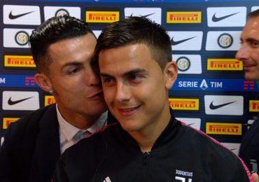 Ronaldo hôn má Dybala sau chiến thắng trước Inter
