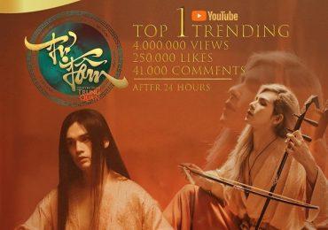 Top 1 thịnh hành YouTube ở VN, MV 'Tự tâm' còn 'gây bão' tại Trung Quốc và các nước Châu Á