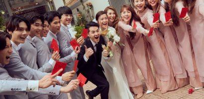 Những khoảnh khắc lãng mạn của Ông Cao Thắng – Đông Nhi trong lễ rước dâu