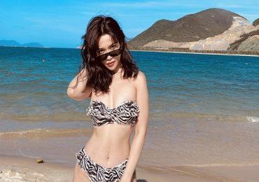 Ngắm trọn bộ ảnh bikini 'bốc lửa' của Sĩ Thanh