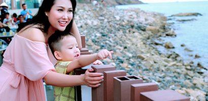 Phi Thanh Vân đưa con trai đi sự kiện tại Vũng Tàu