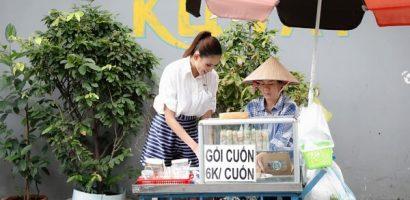 Võ Hoàng Yến trở lại 'Ngày may mắn', bưng mâm bán gỏi cuốn giúp bà bầu đơn thân