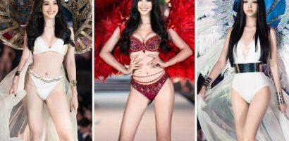 Hoa hậu Tiểu Vy, Á hậu Phương Nga và Á hậu Thúy An trình diễn bikini nóng bỏng